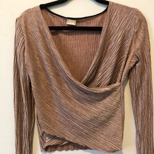 Zara metallic top